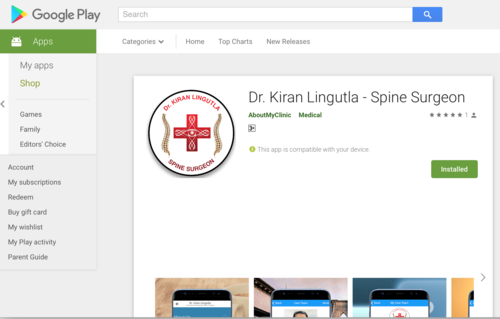 Android App|Dr.Kiran Kumar Lingutla|Somajiguda,Hyderabad