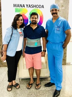 Concierge Spine Surgery: Pt.Mr. Rajshekar ( Canada )|Dr.Kiran Kumar Lingutla|Somajiguda,Hyderabad