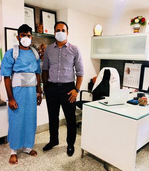 26 yrs old after Spine Tumor removal Surgery Dr.Kiran Kumar Lingutla Somajiguda,Hyderabad
