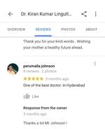 Patient Testimonials | Dr.Kiran Kumar Lingutla | Somajiguda, Hyderabad