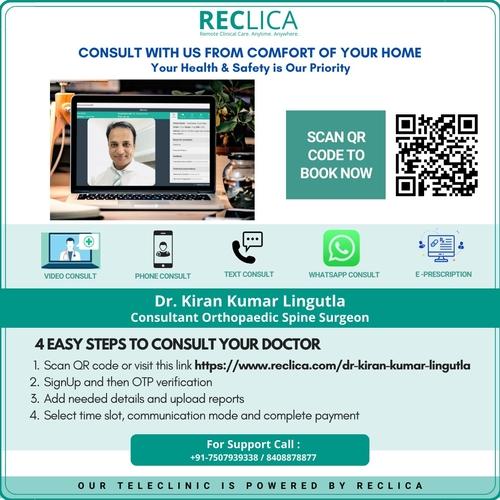 Book Online Consultation with Dr.Kiran Kumar Lingutla|Dr.Kiran Kumar Lingutla|Somajiguda,Hyderabad